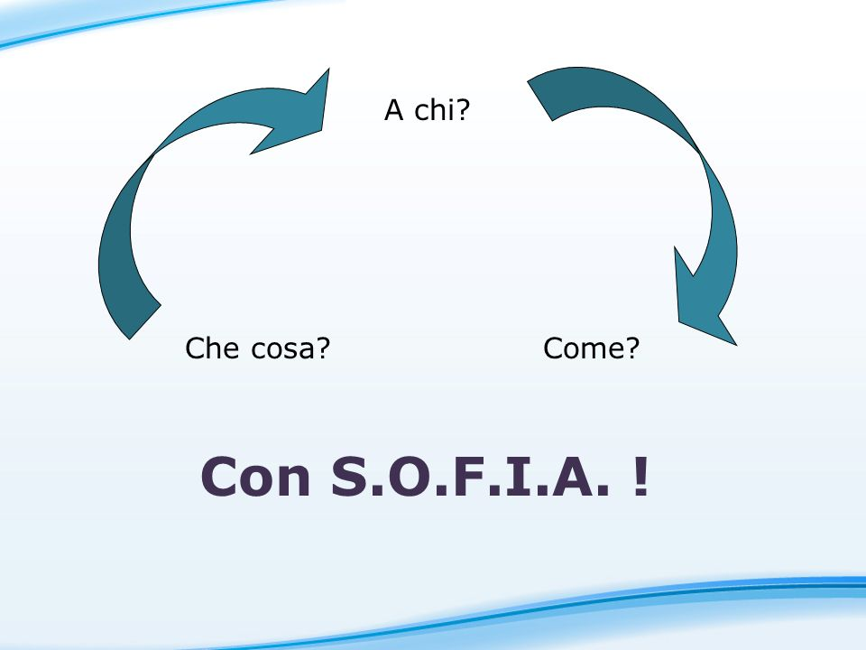 A chi Che cosa Come Con S.O.F.I.A. ! 10