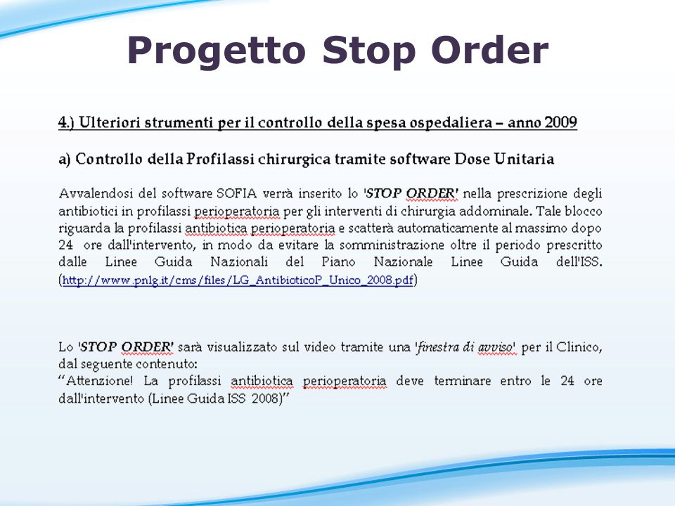 Progetto Stop Order STOP ORDER