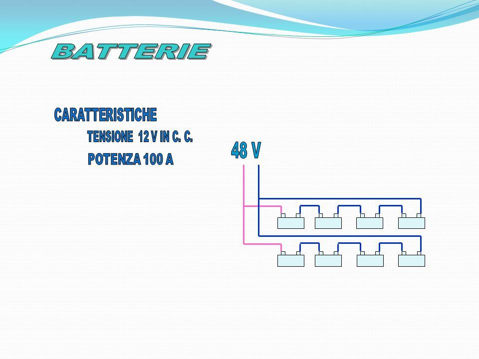 BATTERIE CARATTERISTICHE TENSIONE 12 V IN C. C. 48 V POTENZA 100 A