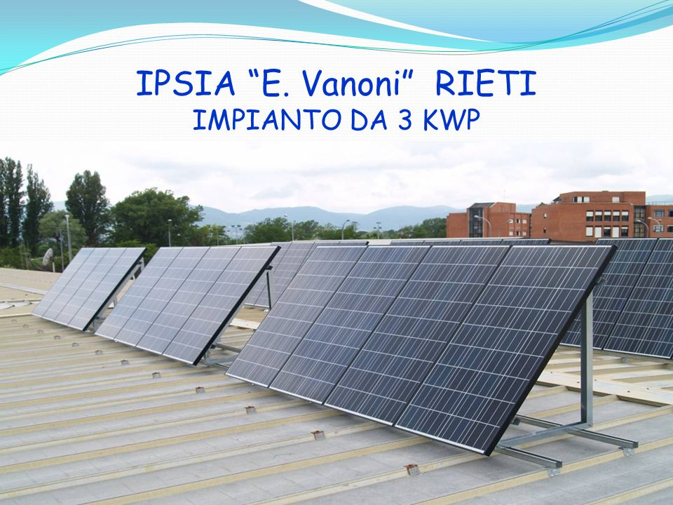 IPSIA E. Vanoni RIETI IMPIANTO DA 3 KWP