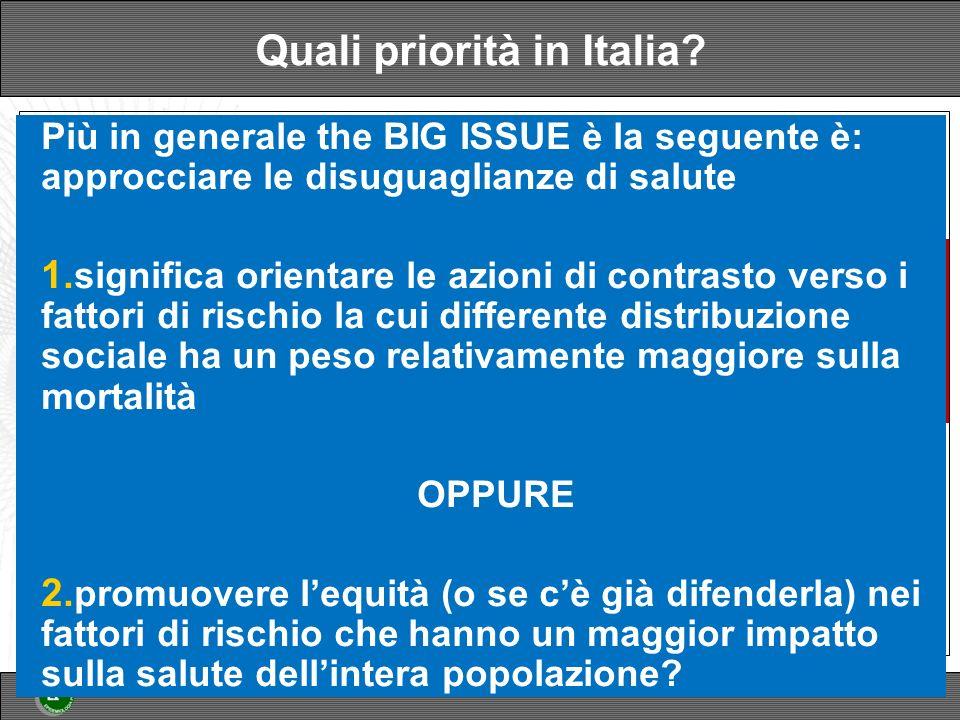 Quali priorità in Italia