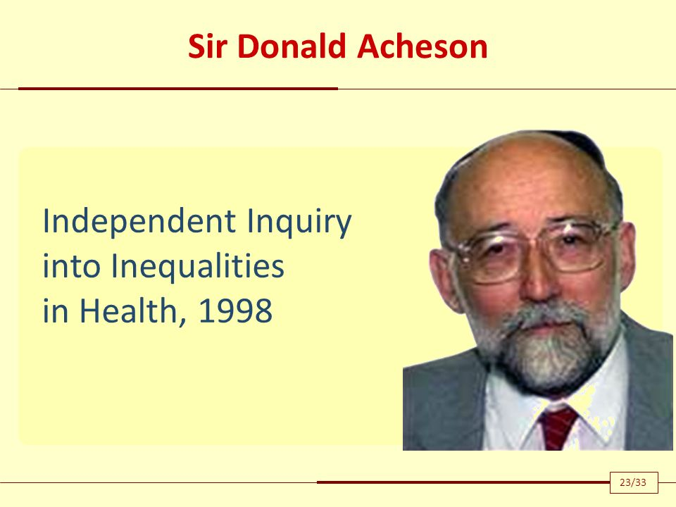 Independent Inquiry into Inequalities in Health, 1998