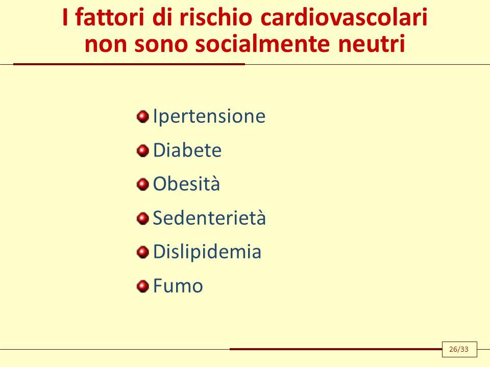 I fattori di rischio cardiovascolari non sono socialmente neutri