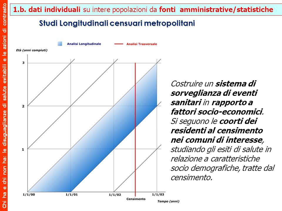 Studi Longitudinali censuari metropolitani