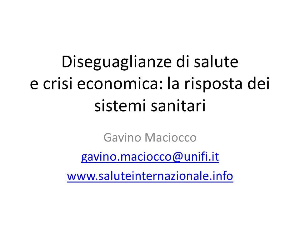 Gavino Maciocco gavino.maciocco@unifi.it www.saluteinternazionale.info