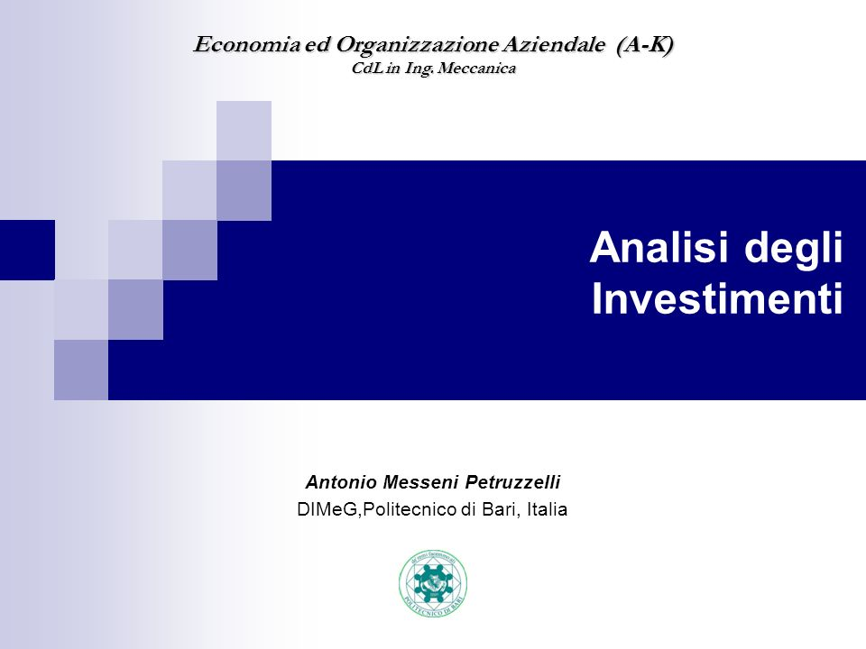 Analisi degli Investimenti