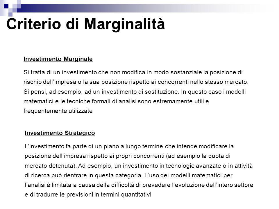 Criterio di Marginalità