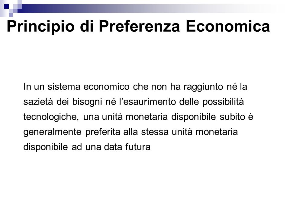 Principio di Preferenza Economica