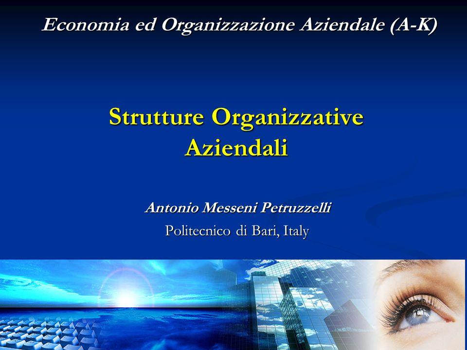 Strutture Organizzative Aziendali