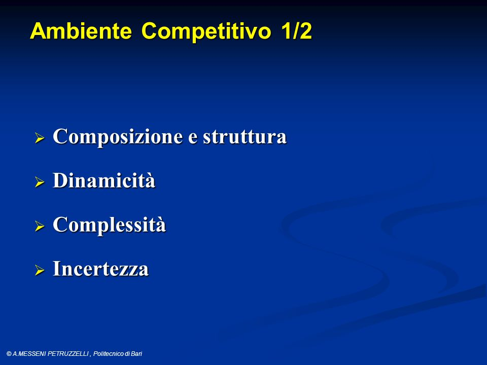 Ambiente Competitivo 1/2