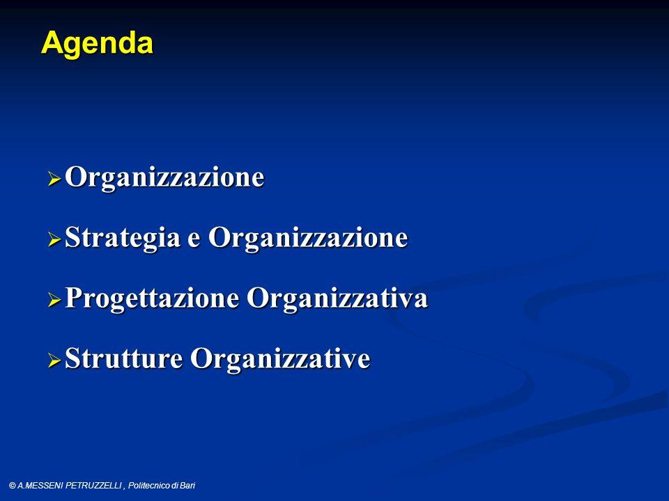 Agenda Organizzazione Strategia e Organizzazione