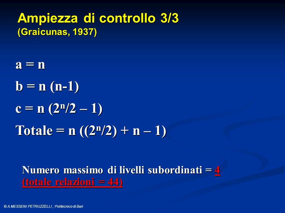 a = n b = n (n-1) c = n (2n/2 – 1) Totale = n ((2n/2) + n – 1)