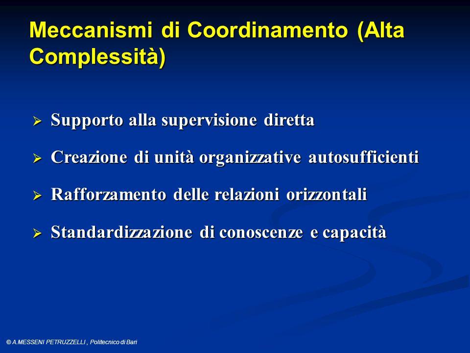 Meccanismi di Coordinamento (Alta Complessità)
