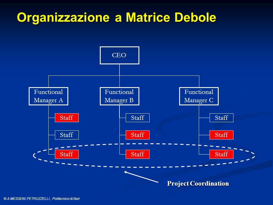Organizzazione a Matrice Debole