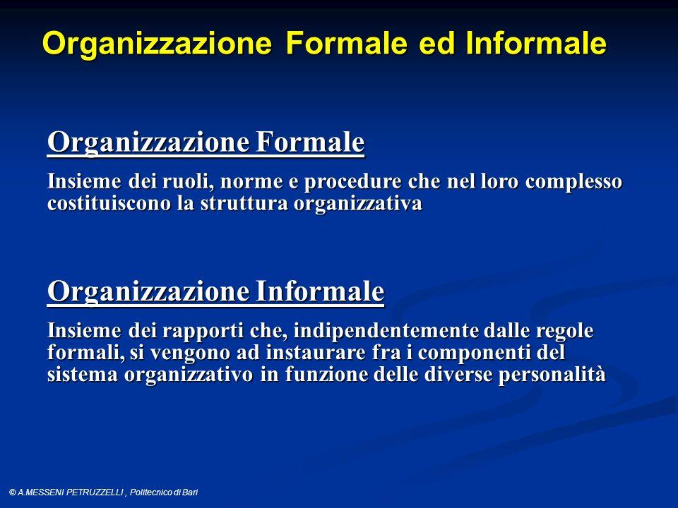 Organizzazione Formale ed Informale