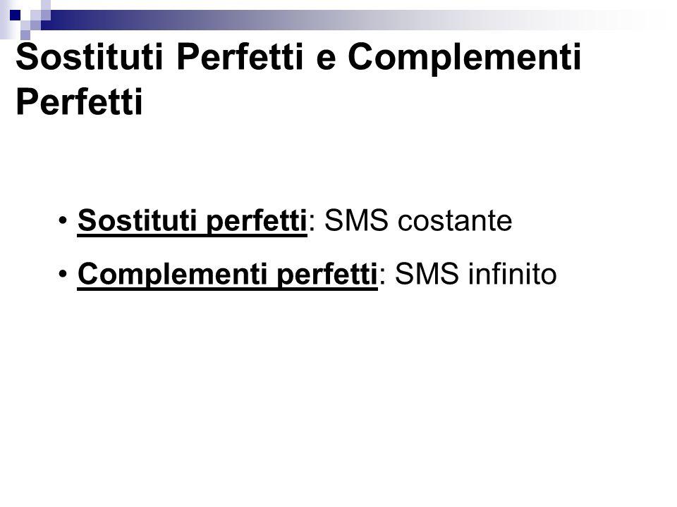Sostituti Perfetti e Complementi Perfetti