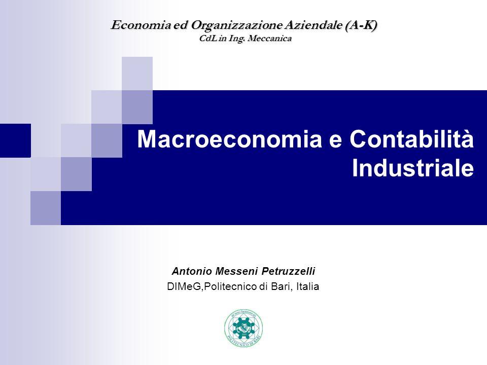 Macroeconomia e Contabilità Industriale
