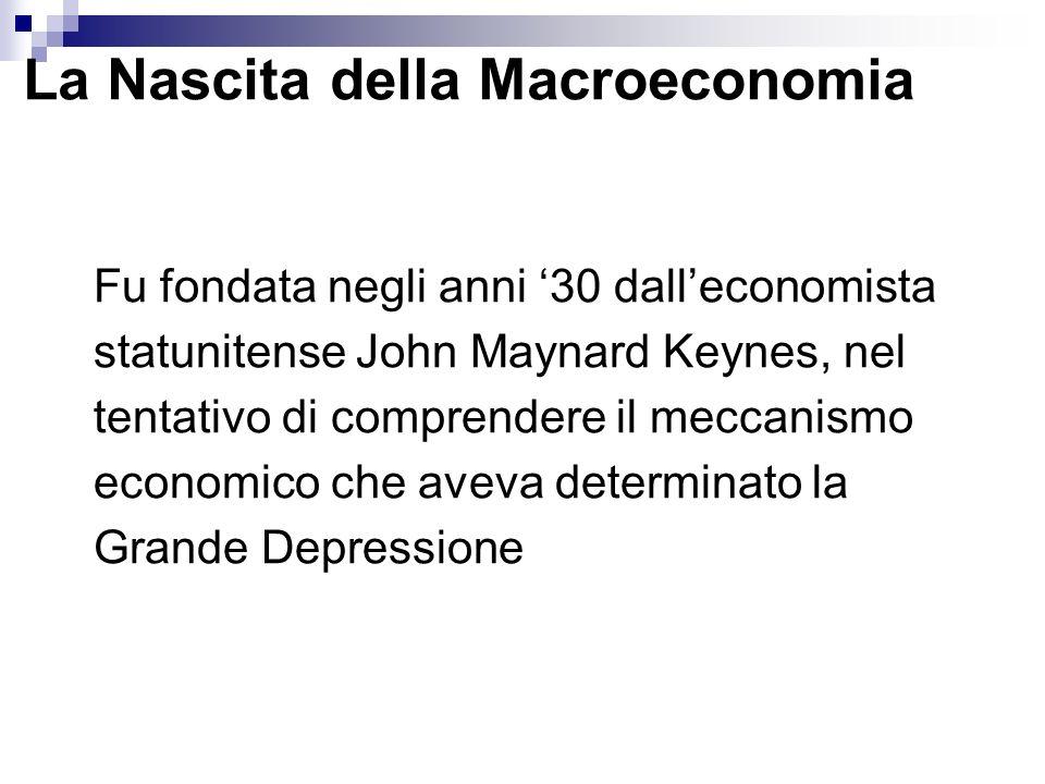 La Nascita della Macroeconomia