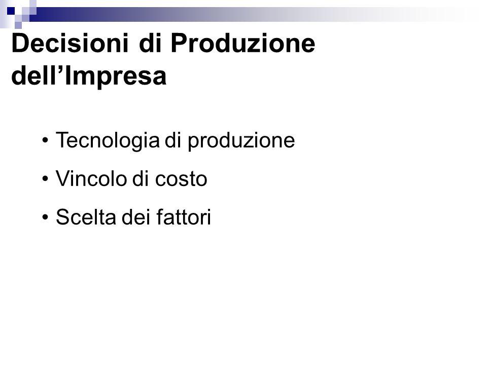 Decisioni di Produzione dell'Impresa