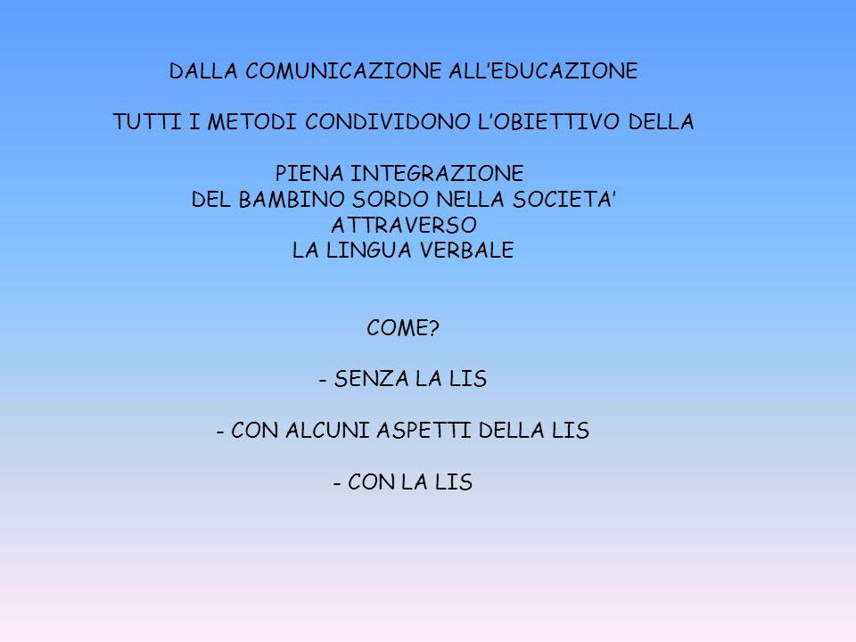 DALLA COMUNICAZIONE ALL'EDUCAZIONE