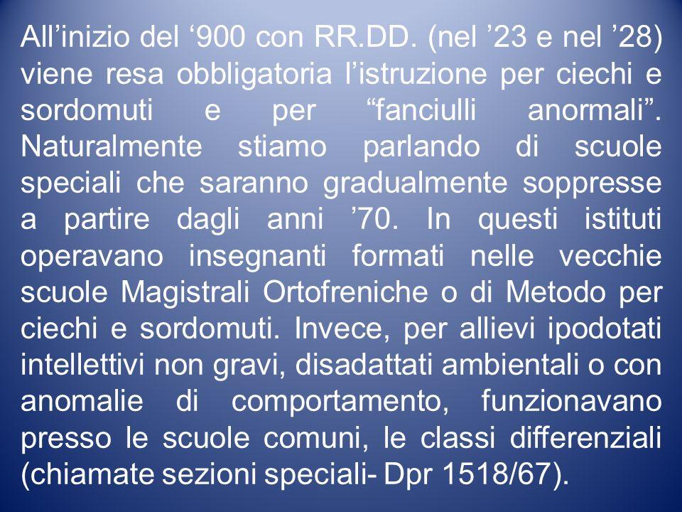 All'inizio del '900 con RR. DD