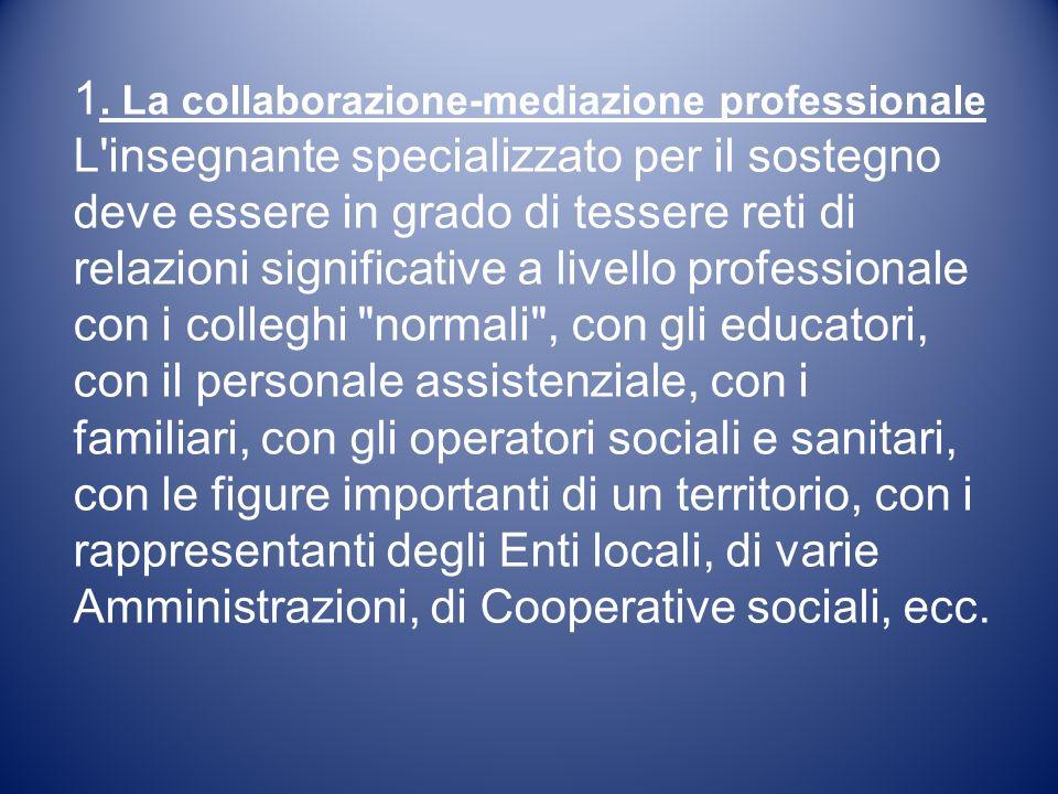 1. La collaborazione-mediazione professionale