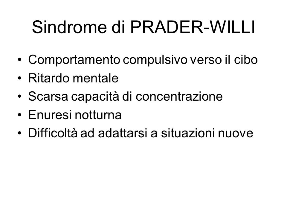 Sindrome di PRADER-WILLI
