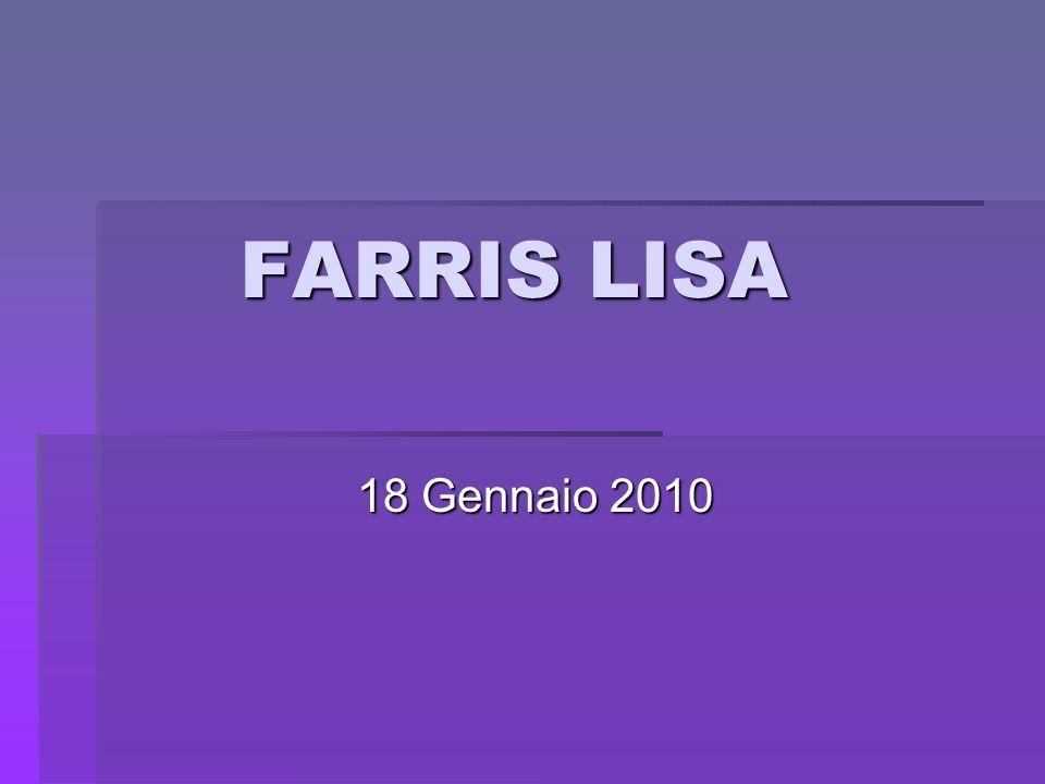 FARRIS LISA 18 Gennaio 2010