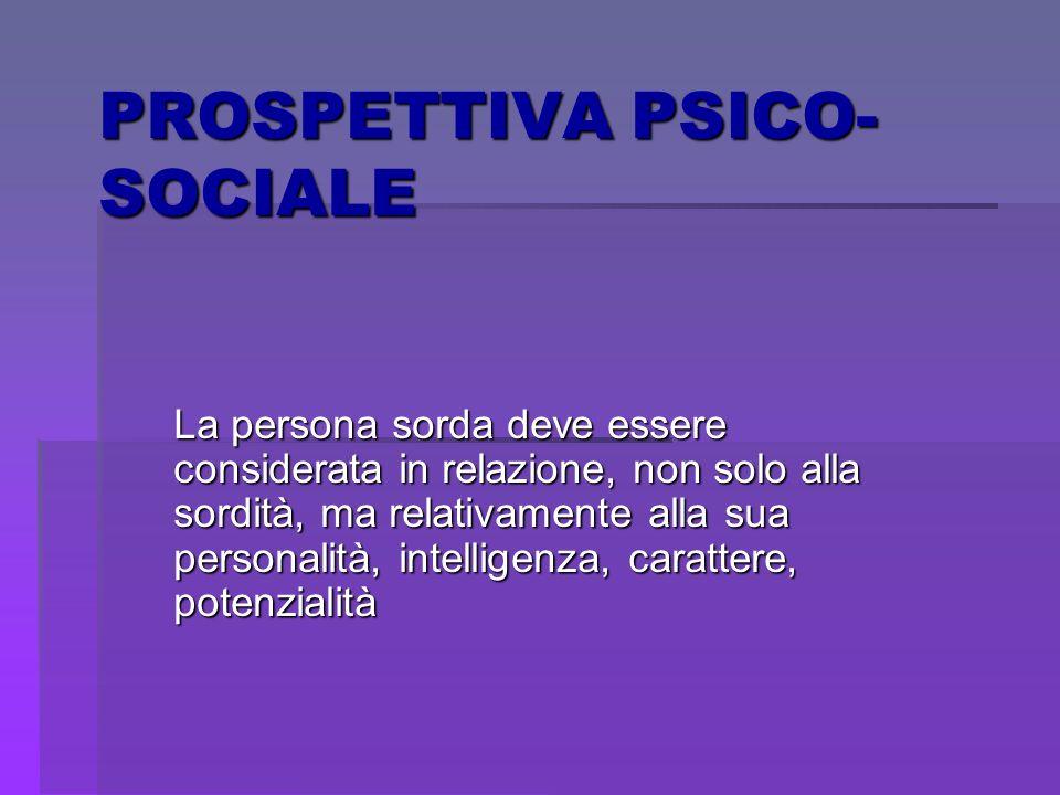 PROSPETTIVA PSICO-SOCIALE