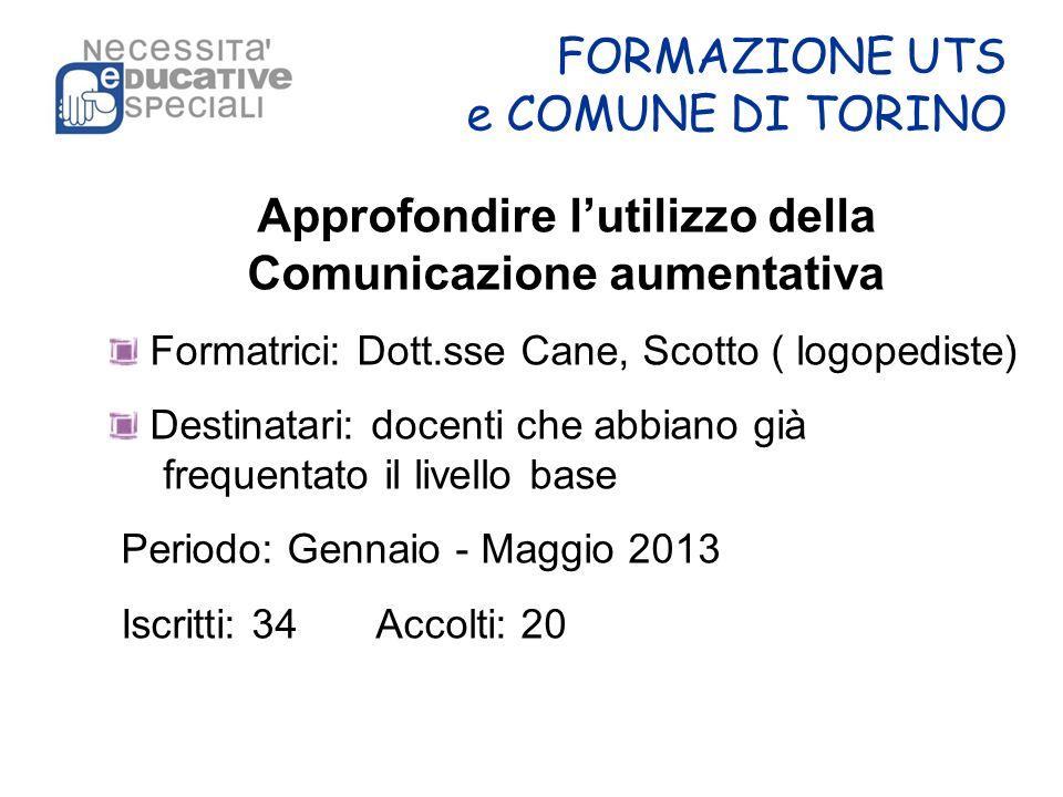 FORMAZIONE UTS e COMUNE DI TORINO
