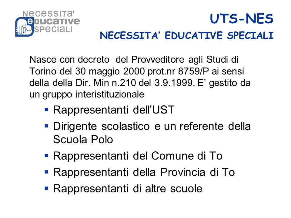 UTS-NES NECESSITA' EDUCATIVE SPECIALI