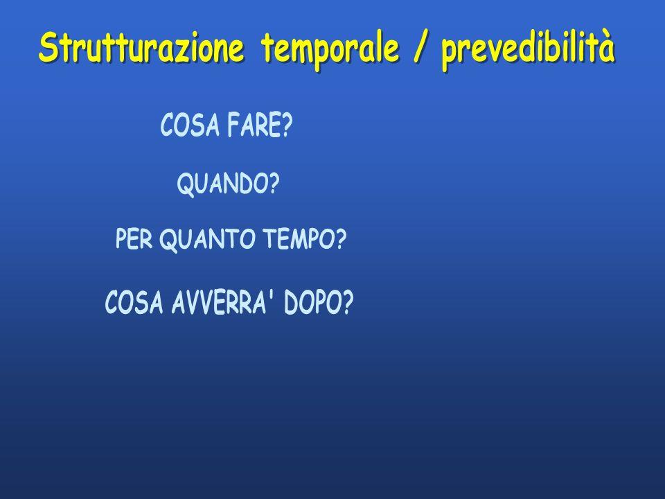 Strutturazione temporale / prevedibilità