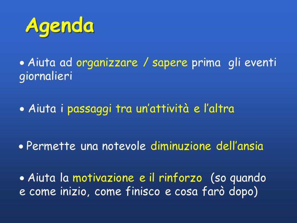 Agenda Aiuta ad organizzare / sapere prima gli eventi giornalieri