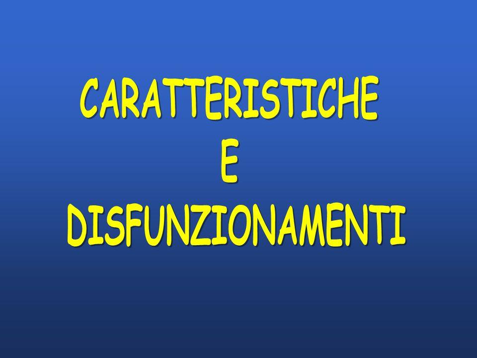 CARATTERISTICHE E DISFUNZIONAMENTI