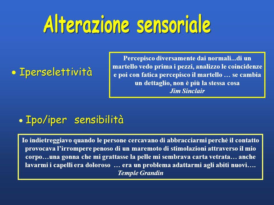 Alterazione sensoriale