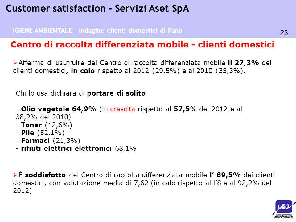 Centro di raccolta differenziata mobile - clienti domestici
