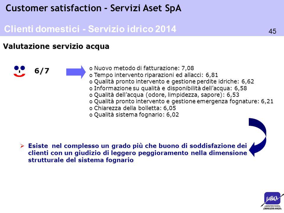 Clienti domestici - Servizio idrico 2014