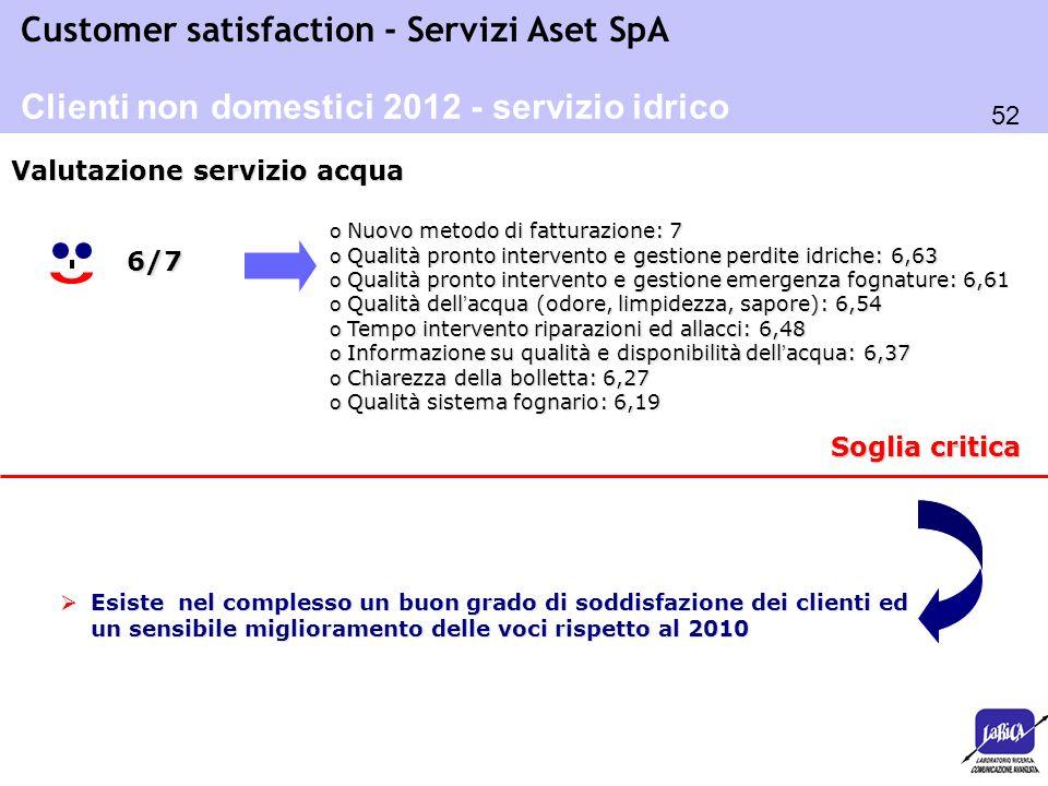 Clienti non domestici 2012 - servizio idrico