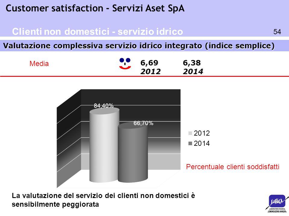 Clienti non domestici - servizio idrico