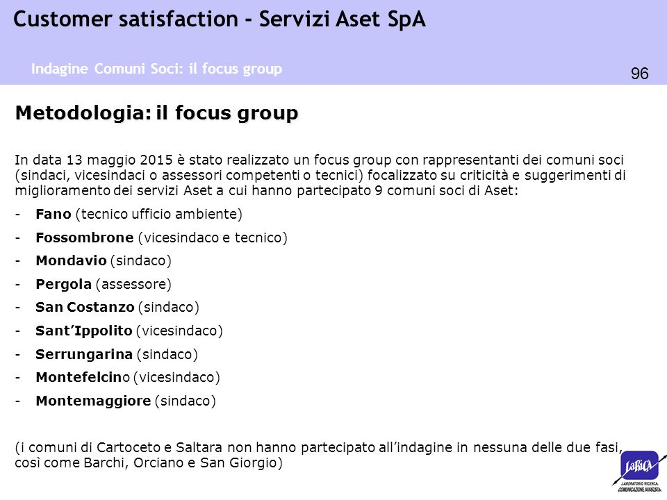 Metodologia: il focus group