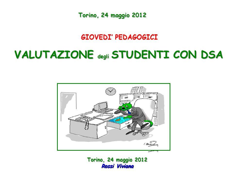 VALUTAZIONE degli STUDENTI CON DSA