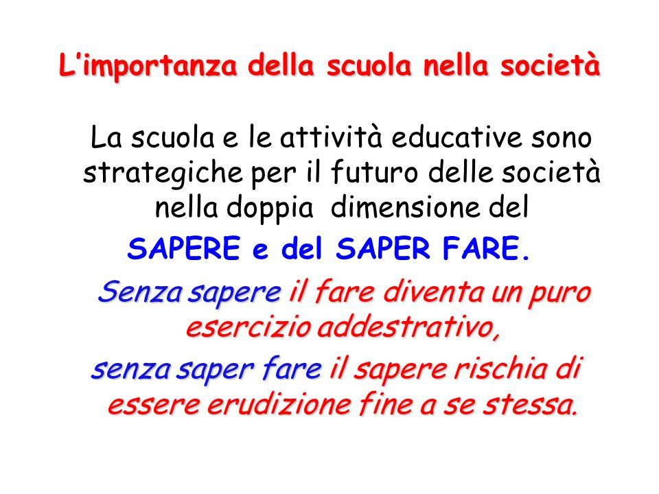 L'importanza della scuola nella società