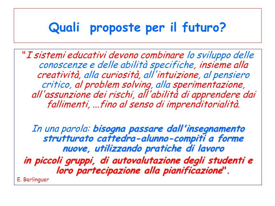 Quali proposte per il futuro
