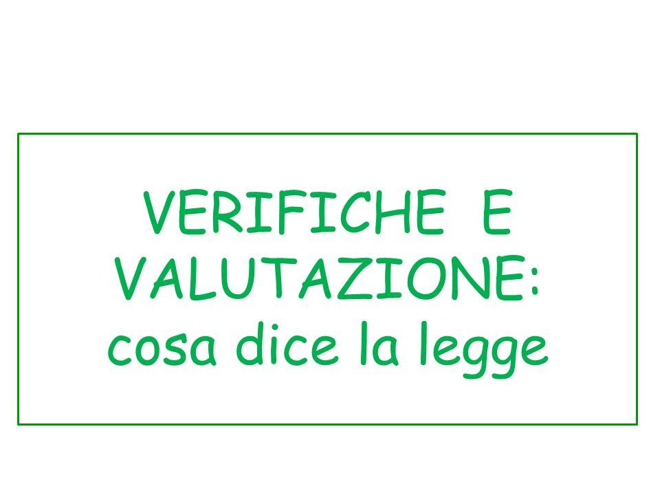 VERIFICHE E VALUTAZIONE: