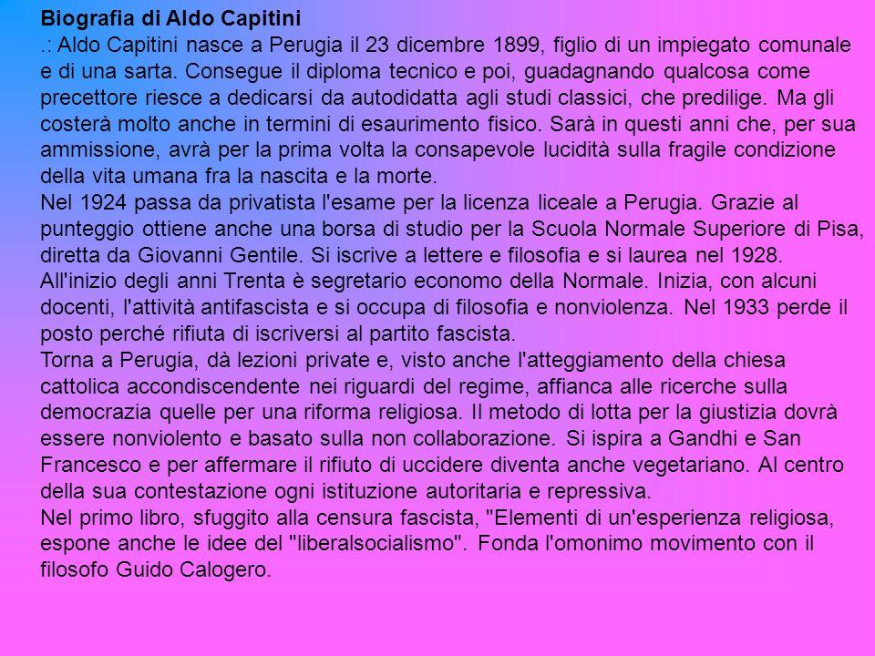 Biografia di Aldo Capitini