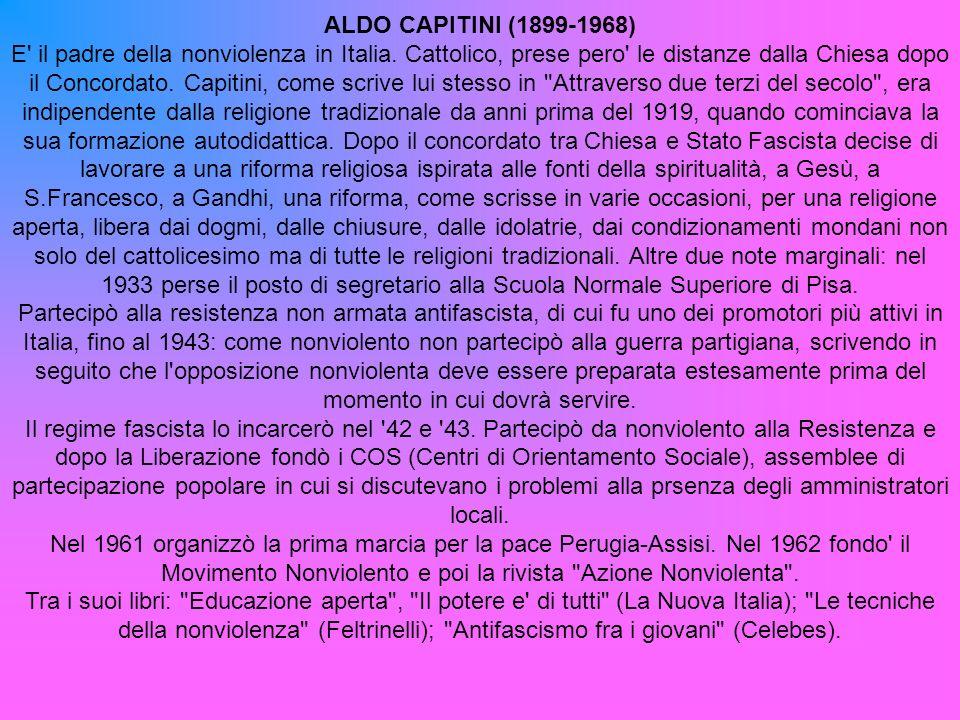 ALDO CAPITINI (1899-1968)