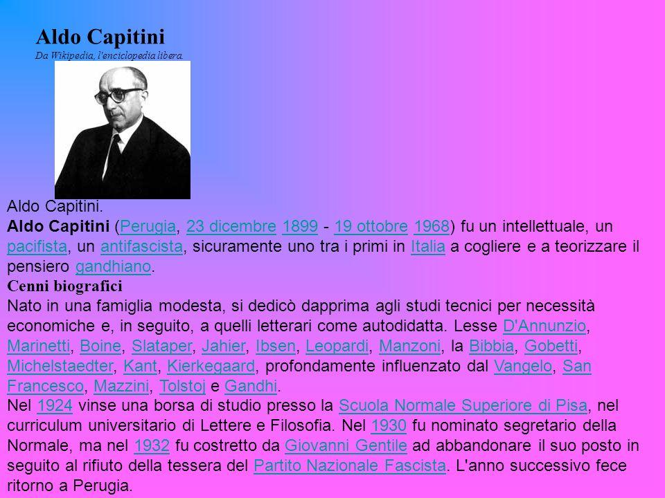 Aldo Capitini Aldo Capitini.