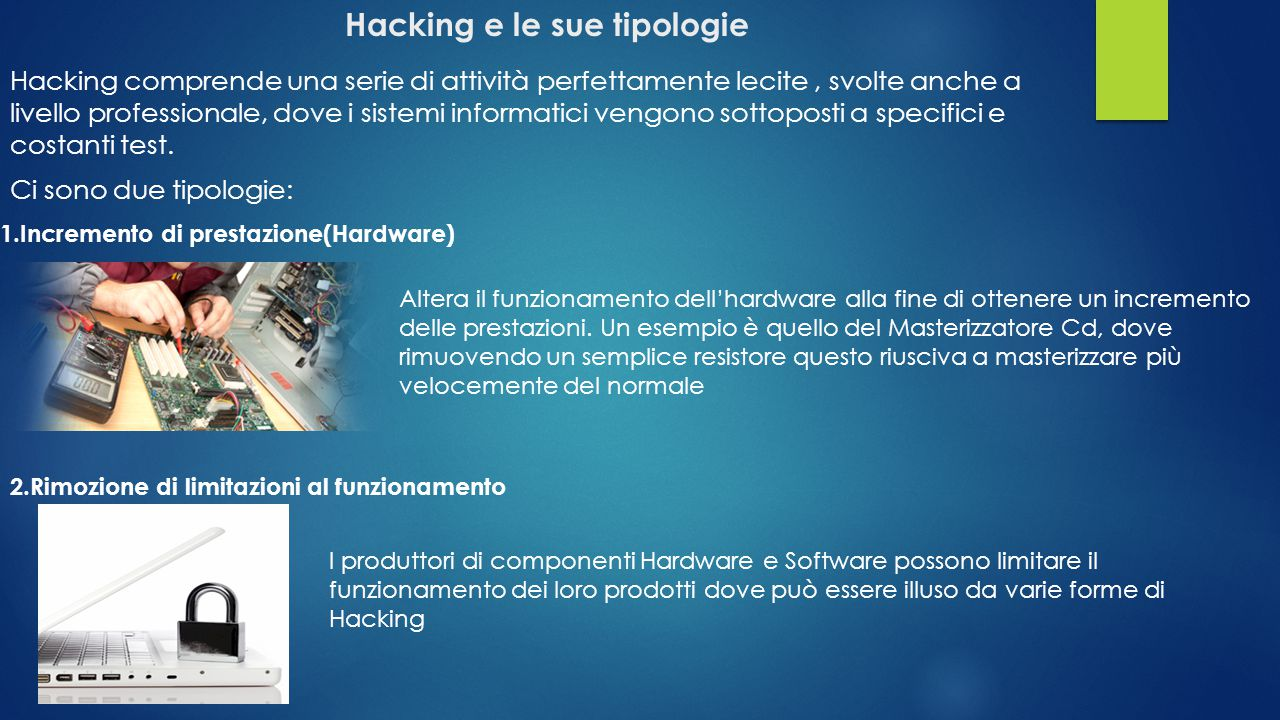 Hacking e le sue tipologie