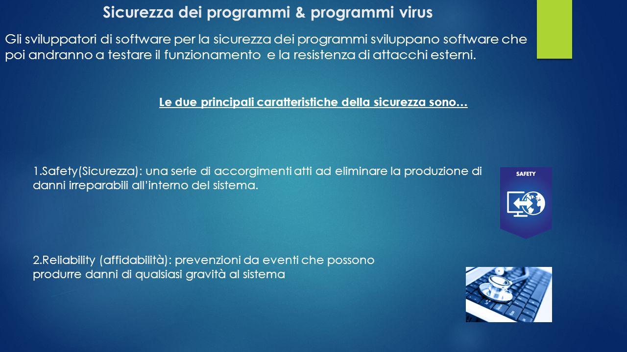 Sicurezza dei programmi & programmi virus