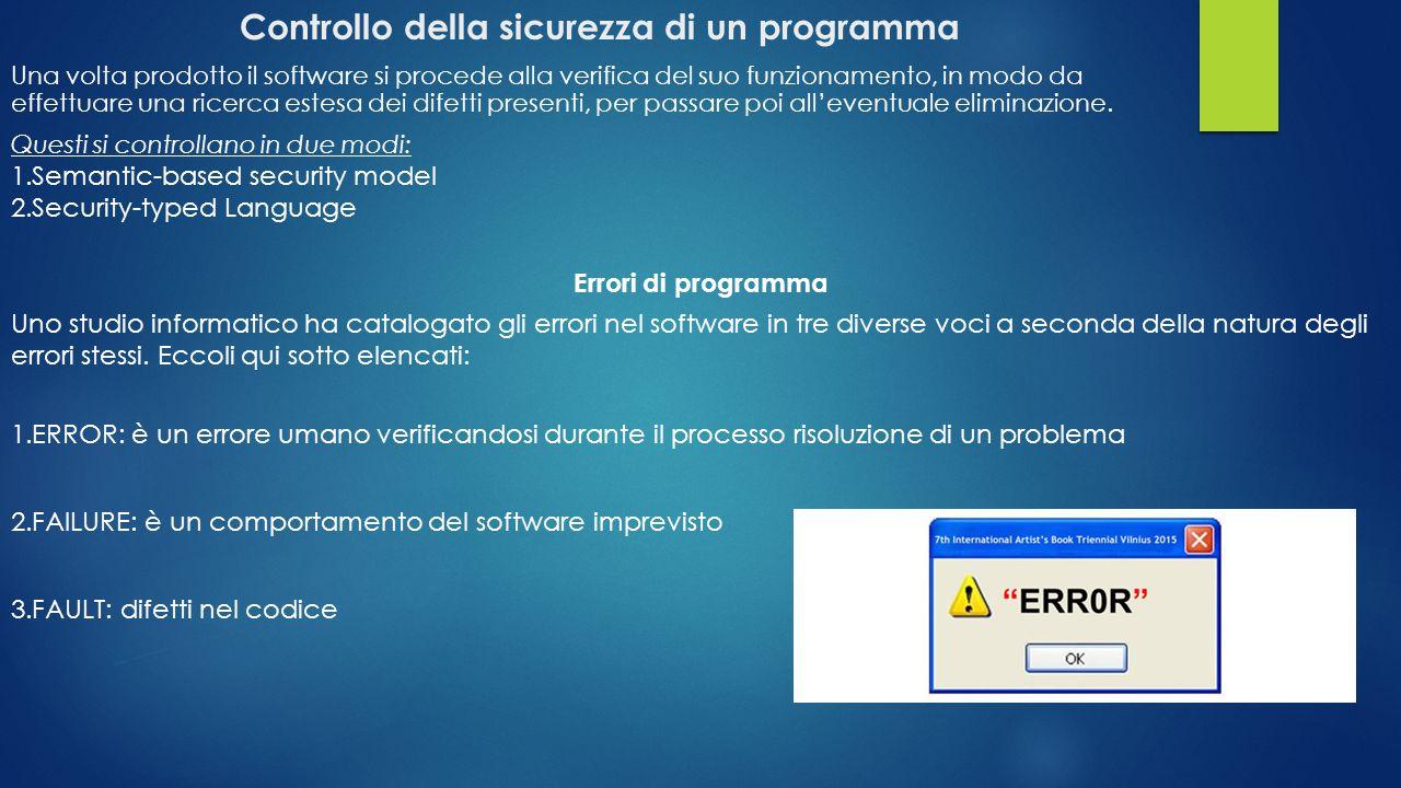 Controllo della sicurezza di un programma
